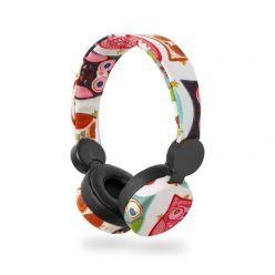 Nedis HPWD4102BK - Drátová Sluchátka | 1,2m Kulatý Kabel | Na Uši | Sova | Černá