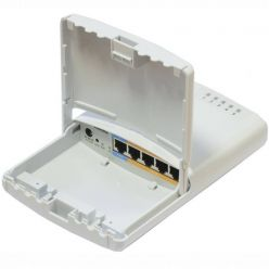 MikroTik RouterBOARD RB750P-PB PowerBox, 5xLAN (4x PoE-OUT), Outdoor, nap. adaptér, ROS L4, mont.set