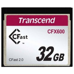 TRANSCEND Industrial Compact Flash Card CFX600 32GB, CFast 2.0, SATA3, MLC
