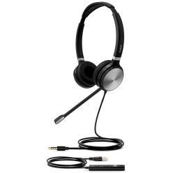 Yealink UH36 Dual náhlavní souprava, dvouušní, USB redukce, 3,5mm jack