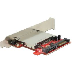 Delock čtečka CFast karet do PCI záslepky, Low Profile, SATA