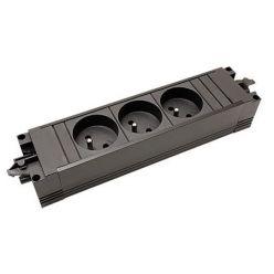 Systém STEP BASE, 3x zásuvka , GST18(M) - 3x CEE 7/5(F) - GST18(F) (336.603)