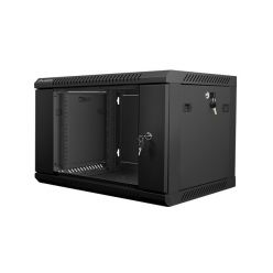 Nástěnný rack 19'' 6U 600X450mm černý