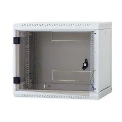 Nástěnný rack RUA 12U/500mm odn.boč+skl.dv.černý