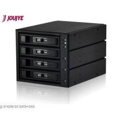 """Jou Jye Backplane pro 3.5"""" (2,5"""") 4x SATA/SAS HDD do 3x 5,25"""" black"""