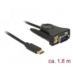 Delock kabelový adaptér USB-C -> RS-232, 1.8m