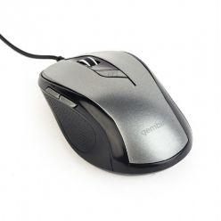 Gembird drátová myš MUS-6B-01-BG černo-stříbrná
