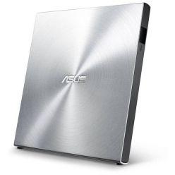 ASUS SDRW-08U5S-U, externí slim DVD±RW mechanika, USB 2.0, stříbrná