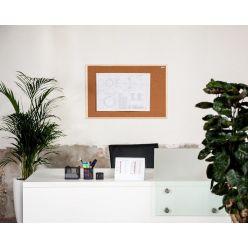 Korková nástěnka AVELI 90x150, dřevěný rám