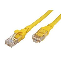 S/FTP patchkabel kat. 6a, Component Level, 1m, LSOH, žlutý