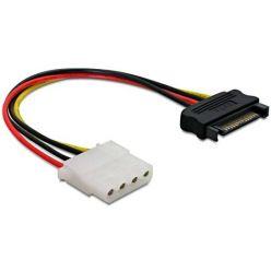 Napájecí kabelová redukce ze SATA (M) na Molex (F), 17cm