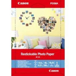 Canon RP-101 přelepovatelný fotopapír, matný, 260g, 10x15cm, 5 listů