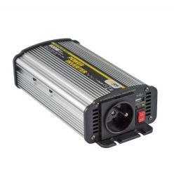 Carspa CAR600U-122 12V/230V+USB 600W