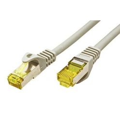 S/FTP patchkabel kat. 7, s konektory RJ45, LSOH, 0,25m, šedý