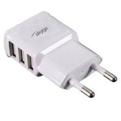 TRX Akyga USB nabíječka 5V/ 3.1A, 3x USB, bílá