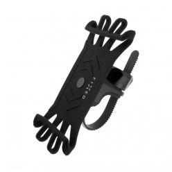 Silikonový držák mobilního telefonu na kolo FIXED Bikee, černý