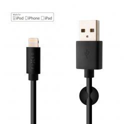 Dlouhý datový a nabíjecí kabel FIXED s konektorem Lightning, 2 metry, MFI certifikace, 2,4A, černý