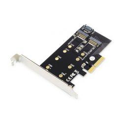 Digitus M.2 NGFF / NVMe SSD PCIexpress Add-On karta podporuje B, M a B + M Key, velikost 80,60,42 a 30 mm