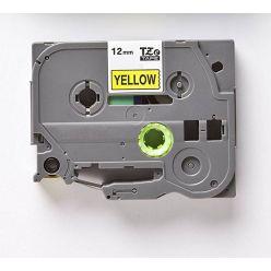 Páska TZE-631 (TZE631) kompatibilní pro Brother, 12mm, žlutá/černá, laminovaná, délka 8m