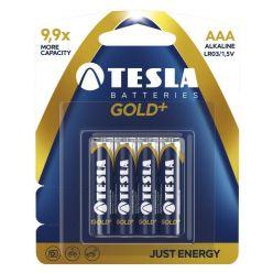 Tesla AAA GOLD+ alkalická, 4 ks