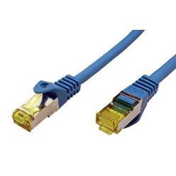 S/FTP patchkabel kat. 7, s konektory RJ45, LSOH, 0,5m, modrý