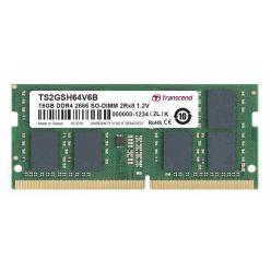 Transcend 16GB DDR4 2666MHz CL19, 2Rx8, SO-DIMM, 1.2V