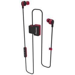 Pioneer špuntová sportovní sluchátka s BT červená