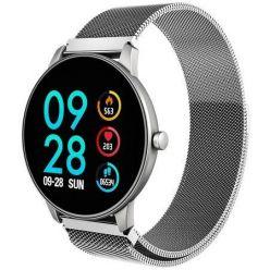 CARNEO Smart hodinky  SlickFit Oxygen+, Stříbrné