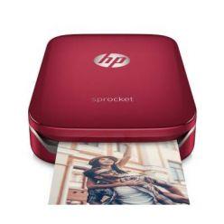HP Sprocket kapesní fototiskárna, červená