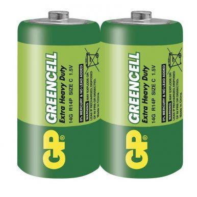GP C Greencell, zinko-chloridová baterie, 2ks