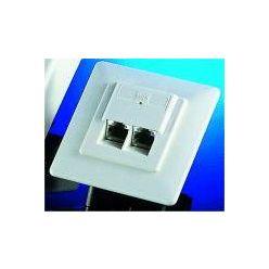 Zásuvka STP kat. 5e pod omítku, pro 2 konektory, bílá