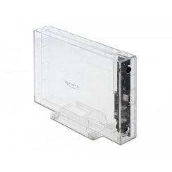 """Delock externí box pro 3.5"""" SATA HDD, USB-C, beznástrojový, transparentní"""