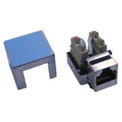 Keystone CAT6, stíněný STP, kolmá svorkovnice, mini