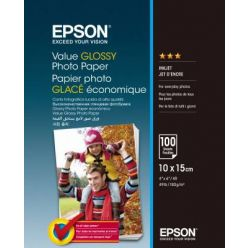 EPSON Value Glossy Photo Paper, 10x15cm, 183g, 100 listů