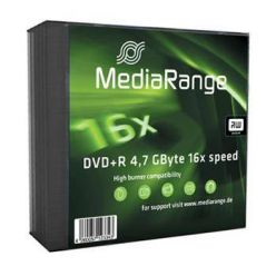 MediaRange DVD+R disky, 4.7GB, 16x, 5ks, slim CD box