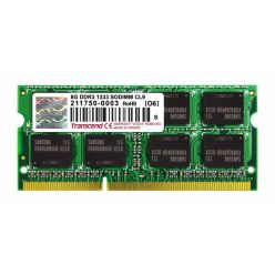 Transcend 8GB DDR3 1333MHz CL9, 2Rx8, SO-DIMM