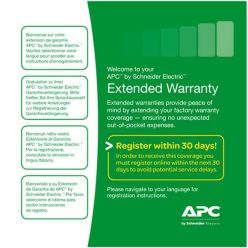 APC Rok prodloužené záruky pro současný prodej s UPS