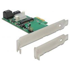 Delock SATA III řadič, 3x SATA + 1x mSATA, PCIe-x1