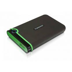 """Transcend StoreJet 25M3S SLIM - 2TB, externí 3.5"""" HDD, USB 3.0, šedo/zelený"""
