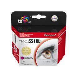 TB náhrada za Canon CLI-551XL, purpurová, 15ml