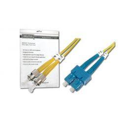 Digitus Fiber Optic Patch Cord, ST to SC, Singlemode 09/125 µ, Duplex, 3m