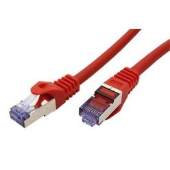 S/FTP patchkabel kat. 6a, Component Level, 1m, LSOH, červený