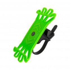 Silikonový držák mobilního telefonu na kolo FIXED Bikee, limetkový