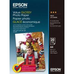 EPSON Value Glossy Photo Paper, A4, 183g, 20 listů
