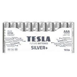 Tesla AAA SILVER+ alkalická, 10 ks fólie, ND