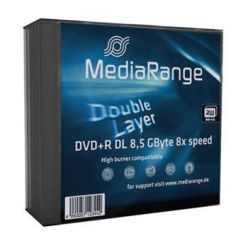MEDIARANGE DVD+R DL 8.5GB, 8x, 5ks, slimcase
