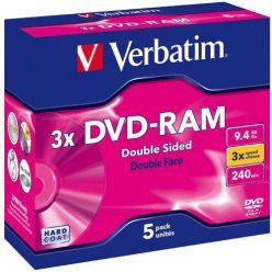Verbatim DVD-RAM, 9.4GB, 3x, 5ks, Cartridge T4