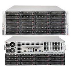 SUPERMICRO 4U SuperStorage server RAID 12Gb/s SAS/SATA 36xHS HDD (expand.24front+12rear), HW RAID LSI 3008, 2x1200W,IPMI