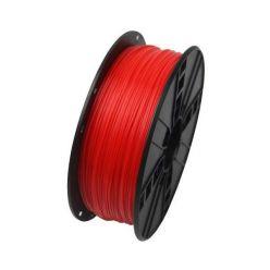 GEMBIRD 3D ABS plastové vlákno pro tiskárny, průměr 1,75mm, 1kg, fluorescentní, červená