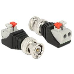 Delock adaptér BNC samec > svorkovnice s tlačítky 2 piny